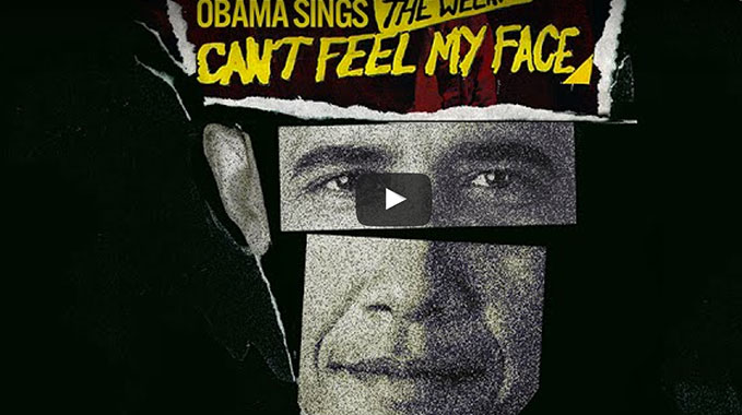 "Photo of Le Président Obama Remixe ""Can't Feel My Face"" by the Weeknd"