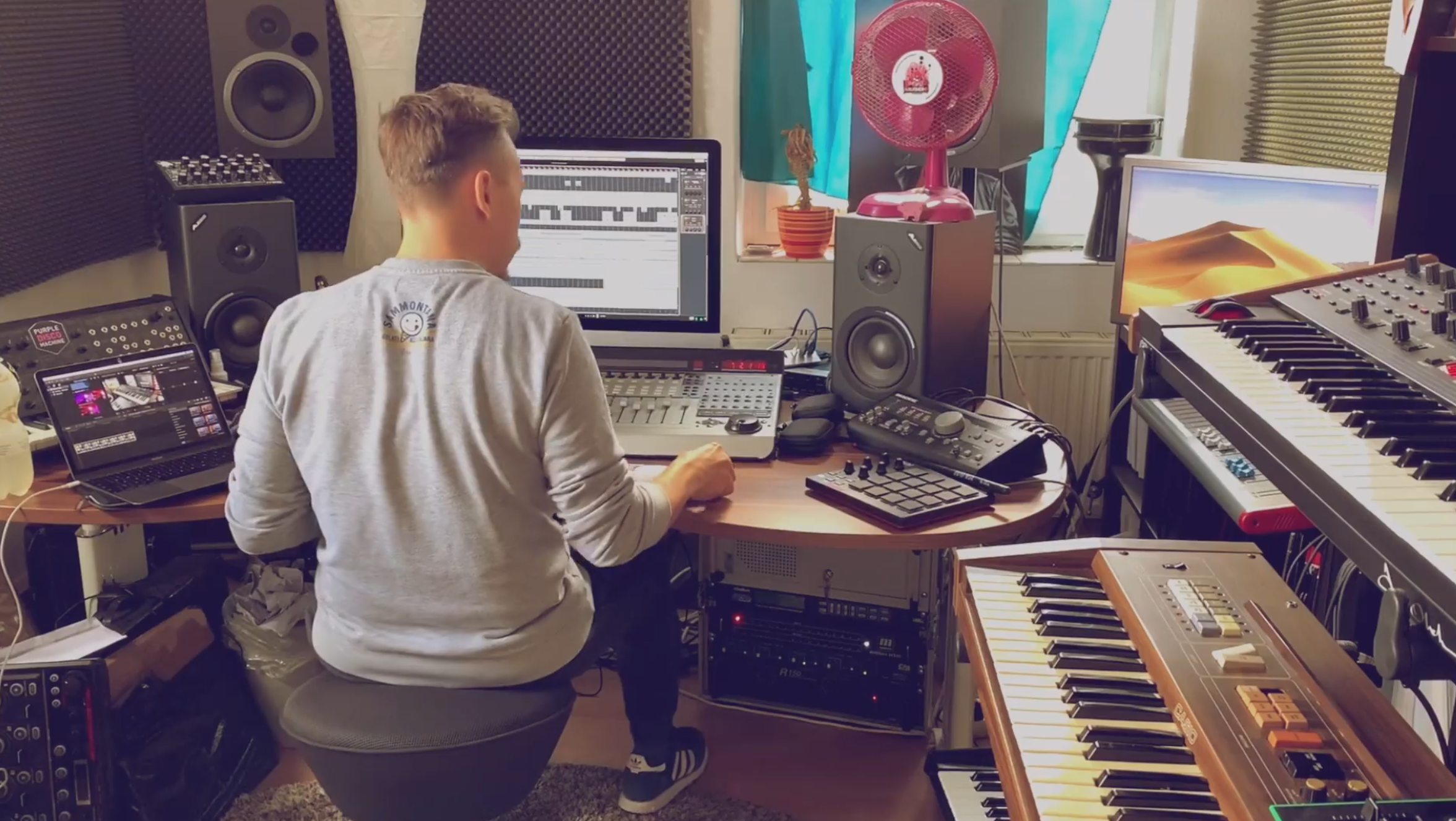 Photo of Joys Remix in production with PurpleDiscoMachine